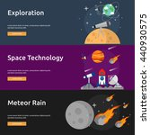 space and universe banner | Shutterstock .eps vector #440930575