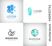 vector set of jewelery logos ...
