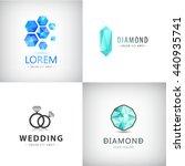 vector set of jewelery logos ... | Shutterstock .eps vector #440935741