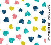 seamless pattern with hearts of ... | Shutterstock .eps vector #440936701