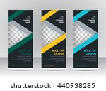 roll up banner stand template | Shutterstock .eps vector #440938285