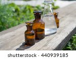 liquid in chemical ware on a... | Shutterstock . vector #440939185