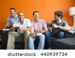 group of men are having fun at... | Shutterstock . vector #440939734