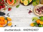 healthy eating background.... | Shutterstock . vector #440942407