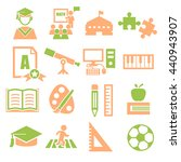 academic  scholastic  education ... | Shutterstock .eps vector #440943907