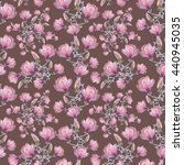 seamless floral pattern with... | Shutterstock . vector #440945035