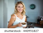 portrait of young smiling woman ... | Shutterstock . vector #440951827