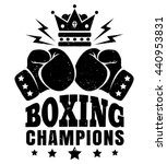 vintage logo for boxing with... | Shutterstock .eps vector #440953831