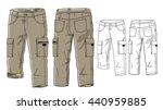 cargo pants vector template | Shutterstock .eps vector #440959885