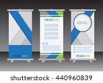 roll up banner stand design... | Shutterstock .eps vector #440960839