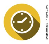 clock  icon   isolated. flat ... | Shutterstock .eps vector #440962291