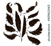 feather set. | Shutterstock .eps vector #440962465