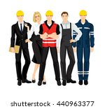 group of building people in... | Shutterstock .eps vector #440963377