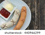 sausage stream with the tomato...   Shutterstock . vector #440966299
