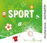a sport themed design with ball ... | Shutterstock .eps vector #440968999