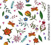 seamless pattern with hand... | Shutterstock .eps vector #440969569