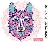 zentangle stylized cartoon of... | Shutterstock .eps vector #440973805