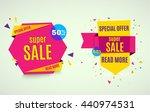 sale banner. 50  off. vector... | Shutterstock .eps vector #440974531