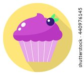purple cupcake with berry in... | Shutterstock .eps vector #440976145
