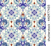 seamless turkish colorful... | Shutterstock .eps vector #440977435
