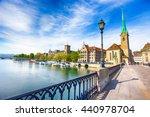 view of historic zurich city...   Shutterstock . vector #440978704