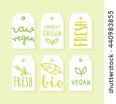 set of tags for packaging... | Shutterstock .eps vector #440983855