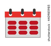 wired red calendar   vector...