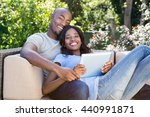 portrait of young couple... | Shutterstock . vector #440991871
