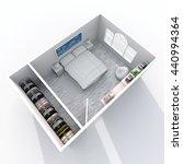3d interior rendering... | Shutterstock . vector #440994364
