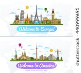 welcome to europe and america... | Shutterstock .eps vector #440999695