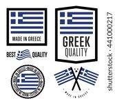 made in greece label set.   Shutterstock .eps vector #441000217