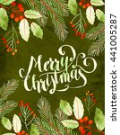 christmas decorative green... | Shutterstock . vector #441005287