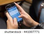 connectivity concept  girl... | Shutterstock . vector #441007771