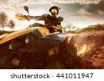 offroad atv drive   Shutterstock . vector #441011947
