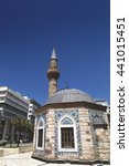 Small photo of Izmir, Turkey - June 3, 2016: Yali Mosque at Konak Square in Izmir, symbolic landmark of Izmir, Turkey.