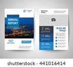 blue abstract flyer layout... | Shutterstock .eps vector #441016414