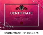elegant template of diploma... | Shutterstock .eps vector #441018475