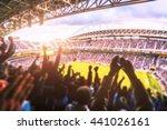 football  soccer a lot of fans  ... | Shutterstock . vector #441026161