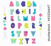 hand crafted alphabet....   Shutterstock .eps vector #441026647