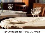 the restaurant serves for lunch.... | Shutterstock . vector #441027985