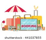 time to travel. set of travel... | Shutterstock .eps vector #441037855
