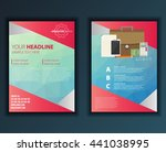 modern vector abstract brochure ... | Shutterstock .eps vector #441038995