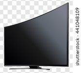 curved tv screen lcd  plasma... | Shutterstock .eps vector #441048109