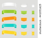 set of colorful web ribbons and ... | Shutterstock .eps vector #441051625