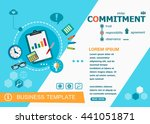 commitment design concepts of... | Shutterstock .eps vector #441051871