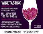 wine tasting party flyer with... | Shutterstock .eps vector #441054499