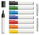 collection of text markers in... | Shutterstock .eps vector #441062257