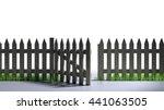 Picket Fence   Open Gate An Ol...