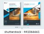 blue brochure design. corporate ... | Shutterstock .eps vector #441066661