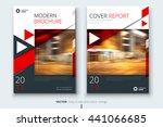 red brochure design. corporate...   Shutterstock .eps vector #441066685
